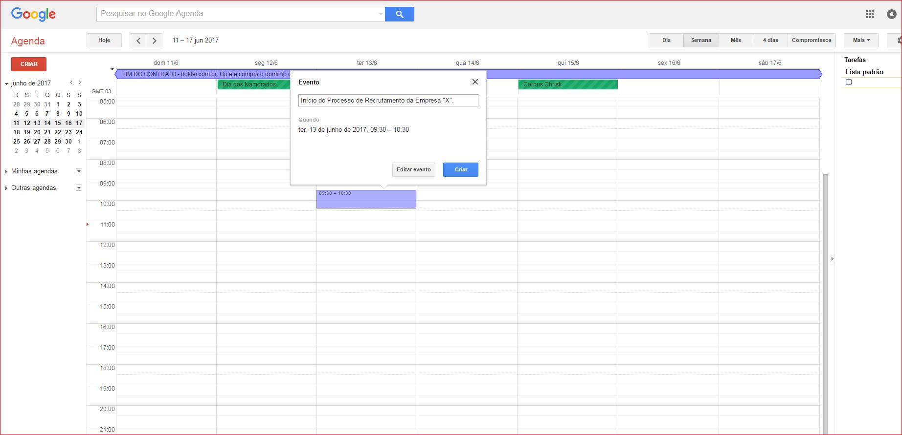 agenda do google